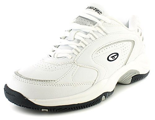 new-mens-gents-white-hi-tec-lightweight-eva-midsole-lether-trainers-white-uk-size-13