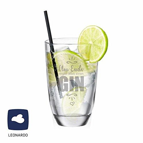 Leonardo GIN-Glas Am Ende ergibt alles einen GIN - lustige Geschenkidee - Weihnachtsgeschenk - Gin Tonic - Geburtstagsgeschenk - Männergeschenk - Geschenk für Frau