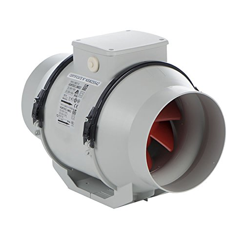 Vortice 17021 Lineo 100 T V0 Mixed Flow In-line Ducted Extractor Fan with Timer by Vortice - Mixed-flow Duct Fan