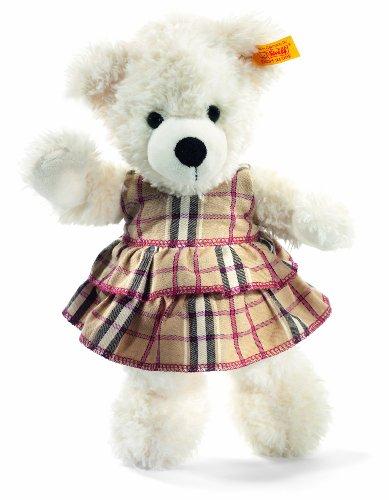 Steiff 113215 - Teddybär Lotte mit Kleid, 28 cm, weiß