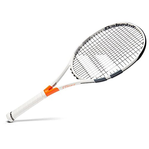 Babolat Pure Strike 16/19 Strung Raqueta de Tenis, Unisex Adulto, Blanco/Rojo, 4