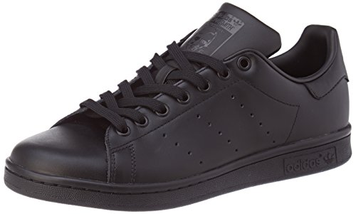 adidas Originals Stan Smith, Chaussures Homme - Noir (Black/Black/Black), 47 1/3 EU