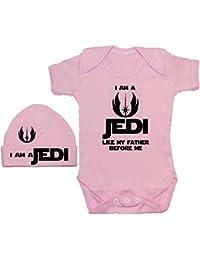 Soy un Jedi como mi padre antes me body/Body de/Pelele/camiseta y gorro/gorra de 0a 12meses