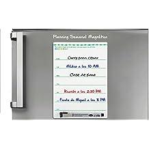 PIZARRA MAGNETICA con PLAN SEMANAL para frigoríficos con rotulador magnético para pizarras blancas.