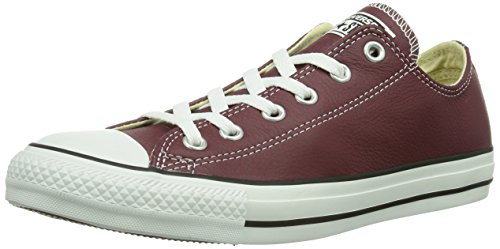 Converse Chuck Taylor All Star Adulte Seasonal Leather Ox, Baskets mode mixte adulte Rouge (18 Bordeaux)