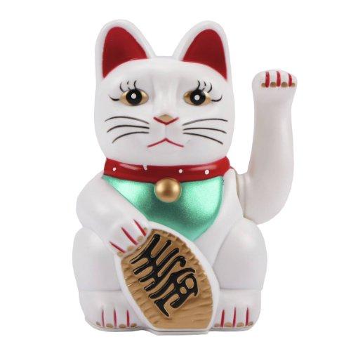 MIK funshopping 'gatto che saluta Maneki Neko 6/16cm Bianco