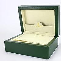 TENGGO Boîte de Montre en Peluche Verte Longue en Velours Boîte de Montre en Bois à Rabat Haut de Gamme pour Rolex…
