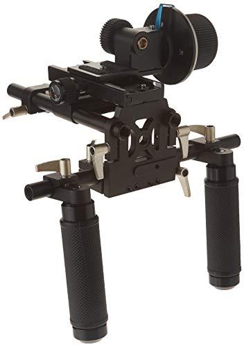 lite, Premium Grade Professional Video Rig, Schulter Unterstützung Stabilisator, mit Follow Focus, Matte Box und Schulter Zubehör Unterstützung Pad, erweiterbar 15mm Rod System für Canon, Sony, Nikon, Panasonic, Olympus, und Pentax DSLRs, spiegellose Kamera und Camcorder ()
