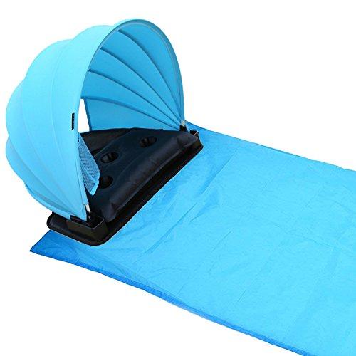 HAIYANLE Pop-up Portable Einstellbar Picknick/Camping Sonne Schatten Baldachin mit Decke, Draußen Picknick/Camping Zelt/Matte, Persönlicher Sonnenschutz/Schutz Blau