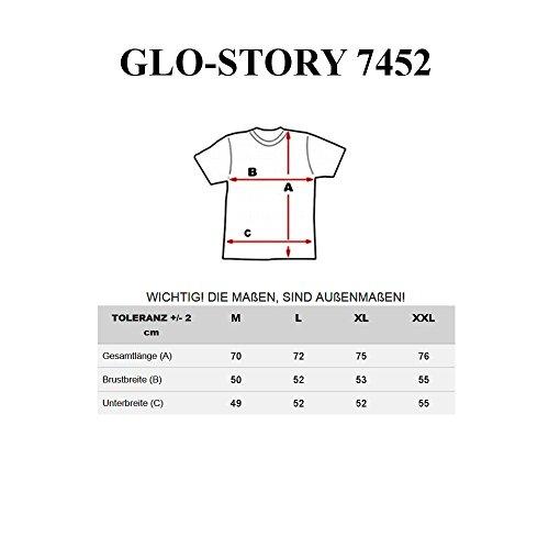 GLO STORY - T-shirt con maniche corte �?GLO STORY 7452 �?UOMO Grigio chiaro