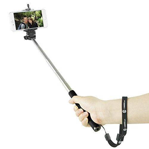 Bastone Allungabile per Selfie Camkix - con Supporto Universale Compatibile con iPhone, Samsung, e altri dispositivi larghi fino a 8.25 cm / Monopiede portatile totalmente regolabile 30 - 102 cm / Leggero, compatto, facile da trasportare