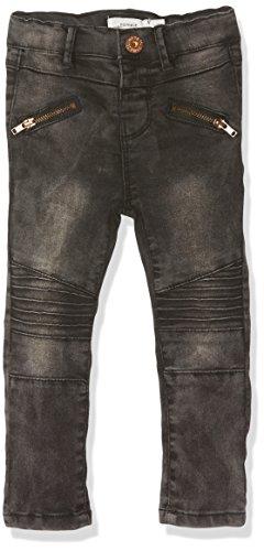 NAME IT Baby-Mädchen Jeans Nittib Skinny Dnm Pant Mini Noos, Grau (Dark Grey Denim), 74