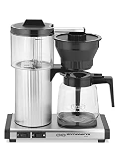 Moccamaster CD Grand 15-Cup Coffee Brewer with Glass Carafe, Brushed Silver by Technivorm Moccamaster