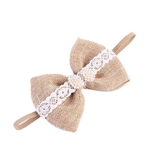 Oyedens Fashion Baby Girl Diamond Head accessori capelli partito elastico fiore pizzo headwea