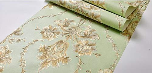 JJHR Tapete Tapetenrolle Floral Relief Tapete Für Wohnzimmer Schlafzimmer Wohnkultur Tapete Beflockung, B Floral Relief