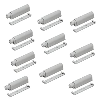 Gedotec Profi Druckschnapper Magnetschnapper Push to Open Türöffner mit magnetischer Zuhaltung | Türschnapper inkl. magnetischer Gegenplatte | mit 38 mm Ausstoßweg | Möbelbeschläge | 10 Stück