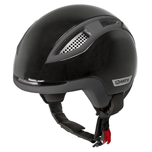 Mighty Erwachsene 45S Speed Pedelec Helm, Schwarz/Anthrazit, S/55-56 cm
