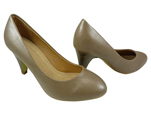 Damen Pumps Schuhe, Pumps, Kunstleder Taupe