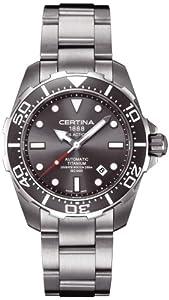 Certina 1888 - Swiss Made 0 - Reloj de automático para hombre, con correa de cuero, color gris de Certina 1888 - Swiss Made