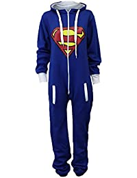 UUstar® Unisex Herren Damen Onesie Overalls Batman Superman Body All In One