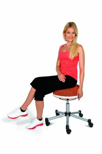 Topstar SH17BB0 Fitness-Hocker Sitness Half Ball /Stoffbezug, schwarz - 3
