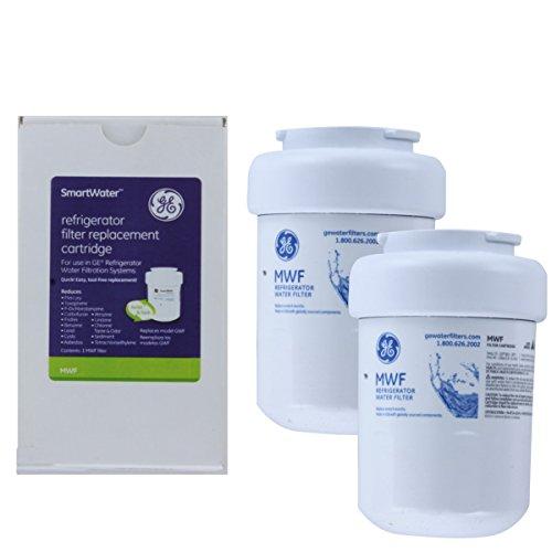 GE MWF Kühlschrank Wasserfilter, 2 Stück (Ge Kühlschrank Filter)