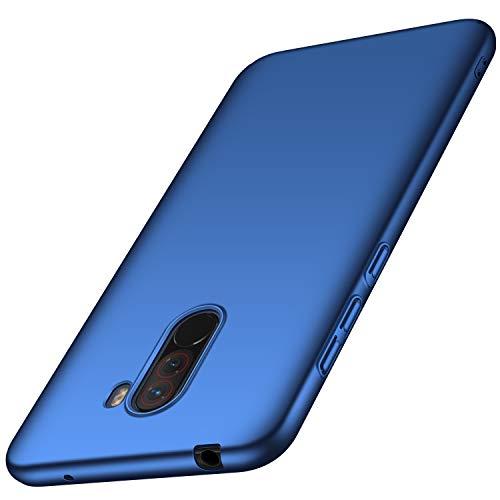 XINKO Xiaomi Pocophone F1 Hülle, Harte Schale Slim PC Stoßsicheres Gehäuse Hülle, Advanced Shock Absorption Technology, für Xiaomi Pocophone F1 (Blau)