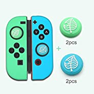 4X Silicone Analog Non-Slip Thumb Grips Stick Cap Case Cover Animal Crossing Handle Joystick Button Caps for N