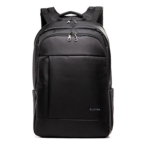 """SLOTRA Zaino per Computer Portatile per 15.6"""" 17"""" Uomo Business Borsa Zaini Viaggio Antifurto Laptop Backpack Nero"""