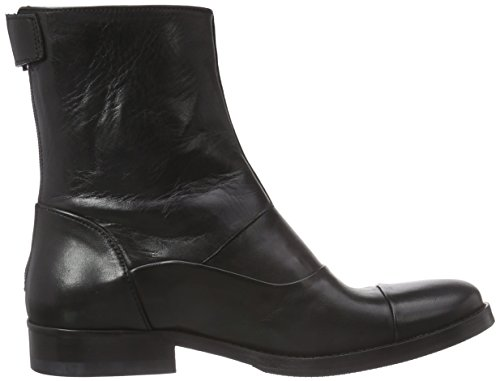 MentorMentor Back Zip Boot - Stivali classici imbottiti a gamba corta Donna Nero (Nero (Black Leather))