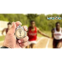 LABZIO by EISCO - Racer - Analogue Professional Stopwatch, Chrome Plated Steel Case, Accurate To 1/10th Of A Second, With a Ring For Thread, Supplied In Case