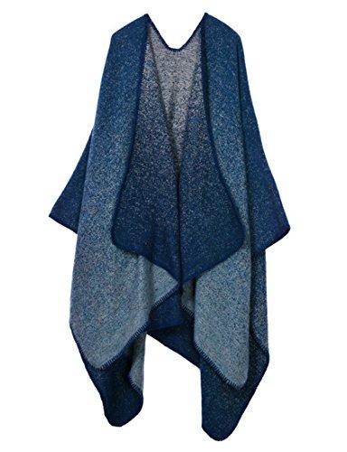 Arzt Welcher Kostüm (Honeystore Frau Herbst-Winter Fashion Schal Warm Umschlagtuch ärmelloser Umhang verdickte und vergrößerte 130*150CM Tropfen)