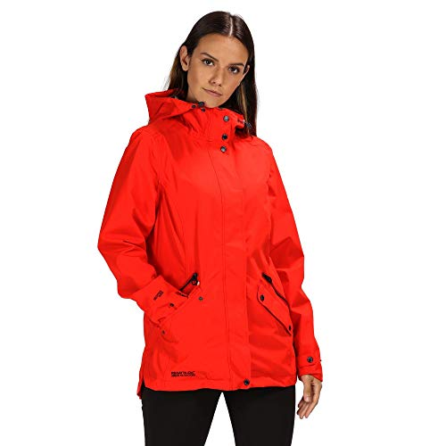 The Regatta Women's Basilia Waterproof and Breathable Hooded Outdoor Jacket is exactly what you need when taking your dog out for a walk and are in need of a more light weight coat.