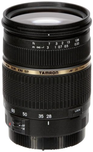 Tamron A09E SP AF 28-75 mm F/2.8 - Objetivo para Canon (distancia focal 28-75mm, apertura f/2.8, macro, diámetro: 67mm) color negro (incluye parasol)