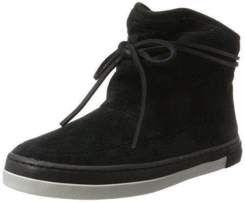 Hub Damen Leader Boot N30 Hohe Sneaker, Schwarz (Black/Black-Neutral Grey), 41 EU