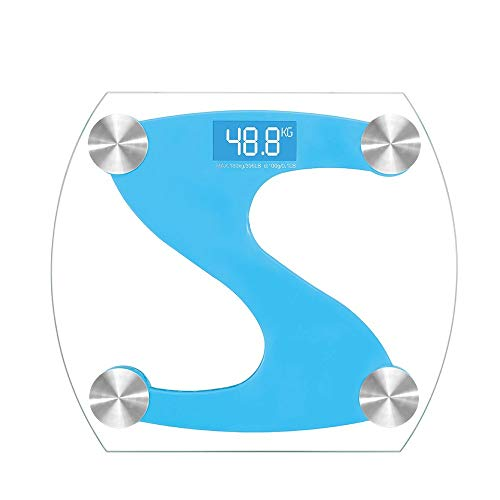 OPPP Digitale Waage Gewichtsverlust Fitness Balance Bodenwaage LED Digital Smart Glaskörper Gesundheit Test Elektronische Badezimmer Wiegen Wissenschaft, A