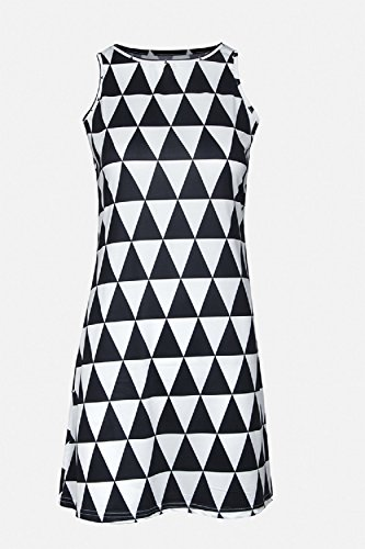 Damen Ärmellose Weste Mini - Strand Dress Black