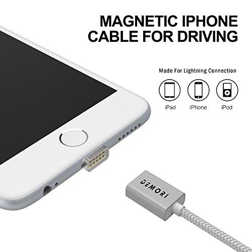 iPhone Ladekabel - Lightning-Kabel, magnetisch, iPhone-Kabel fürs Fahren, kompatibel mit iPhone 5, 5C, 5S, 6, 6 Plus, 6S, 7, 7 Plus, X!