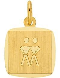 Gold 8 k ( 333 ) Sternzeichen Anhänger - Zwilling - B. 10,9 mm - H. 10,4 mm