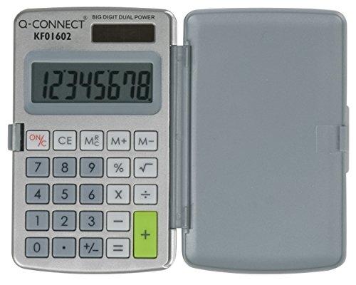 Q-CONNECT KF01602 Taschenrechner, 8 stellig, grau, 8-stellig