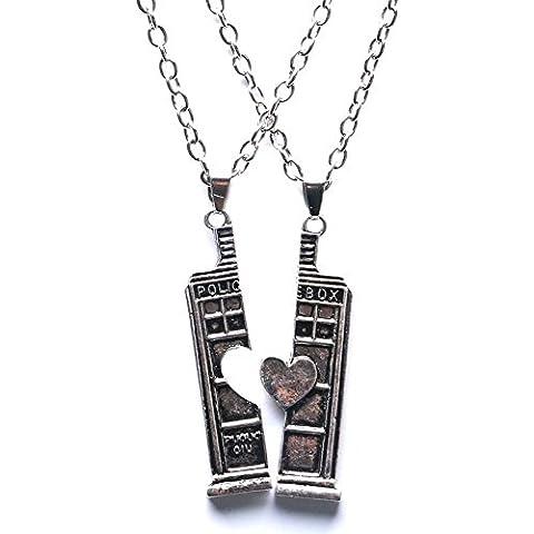 Xigeya ®, motivo: Doctor Who - Orologio da taschino al quarzo, rotondo, con ciondolo, fantastica idea regalo da uomo/unisex