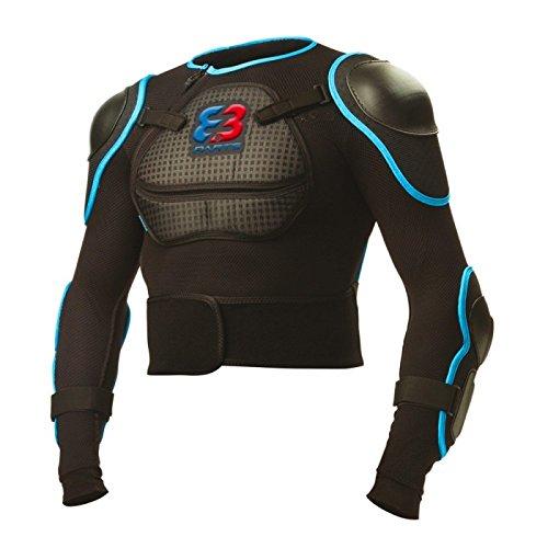 Parts 8.3 NM-610 Veste de Protection VTT Homme, Noir/Bleu, FR : S (Taille Fabricant : S)