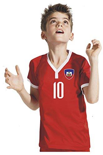 Aprom-Sports Haiti Kinder Trikot - Hose Stutzen inkl. Druck Wunschname + Nr. RBB WM 2018 (128)