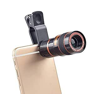 Tygot 8X Mobile Lens Blur Background Effect Telescope HD Lens Kit with DSLR Adjustable Focus HD Pictures for All Smartphones