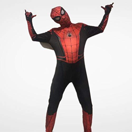 ASJUNQ Heldenexpedition Spider-Man Kostüm Halloween Party Film Requisiten Onesies,Adult-L (3d Bewertung Film Halloween)