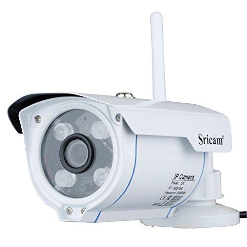 Galleria fotografica Sricam SP007 Telecamera Videosorveglianza Esterno, HD 720p, IR-Cut, Impermeabile, Visione Notturna, Wifi Wiriless, Tutte le Funzioni di APP, Supporta MicroSD 128GB, Compatibile con iOS e Android, H.264, ONVIF, P2P