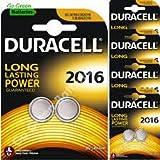 10 Pilas Duracell Modelo CR2016 Botón Litio - Pilas para calculadoras y relojes