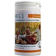 Veg1 Orange Multivitamins and Minerals Tablets - Pack of 180 Tablets