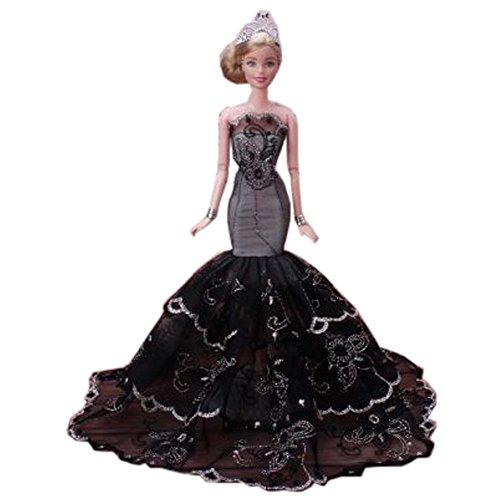 öne Prinzessin-Hochzeits-Kostüm-Partei-Abend-Kleid-Puppen-Kleid-Oben Kostüm-Geschenk-Idee, A ()