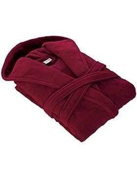 möve Superwuschel Kapuzenmantel in Gr. S aus 100% Baumwolle, ruby